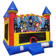 Rock Stars Inflatable bounce house with Basketball Goal