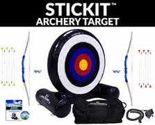 Archery inflatable stick it game