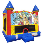 Scooby Doo Inflatable bounce house with Basketball Goal