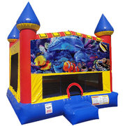 Under the Sea Bounce house with Basketball Goal