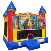 Sesame Street. Inflatable bounce house with Basketball Goal