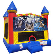 Shark Inflatable bounce house with Basketball Goal
