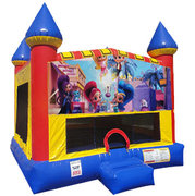 Shimmer and Shine Bounce house with Basketball Goal