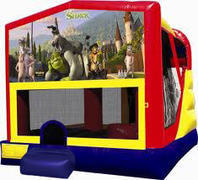 Shrek 4in1 Inflatable bounce house combo