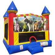 Shrek Inflatable bounce house with Basketball Goal