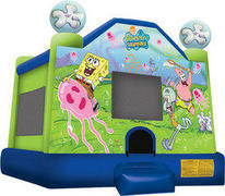 A Spongebob Inflatable bounce house