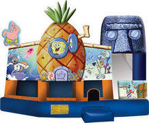A-Spongebob  Squarepants 5in1 Inflatable bounce house combo