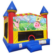 Spongebob Inflatable bounce house with basketball goal