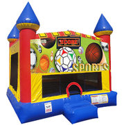 Sports Inflatable bounce house with basketball goal