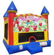 Strawberry Shortcake Inflatable bounce house with Basketball Goal