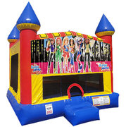 Super Girls Bounce house with Basketball Goal