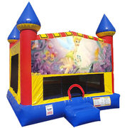 Tinkerbell Inflatable bounce house with Basketball Goal