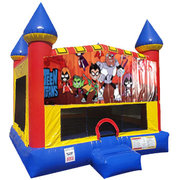 Teen Titans Bounce house with Basketball Goal