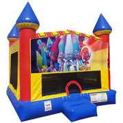 Trolls Inflatable Bounce house with Basketball Goal
