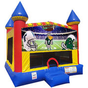 Tulane Inflatable bounce house with Basketball Goal