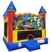 Ninja Turtles Inflatable moonwalk with basketball goal