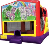 Unicorn Friends 4in1 Bounce House Combo