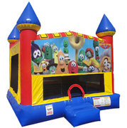 Veggie Tales bounce house with Basketball Goal