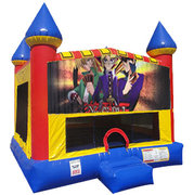 Yu-Gi-Oh Inflatable Bounce house with Basketball Goal