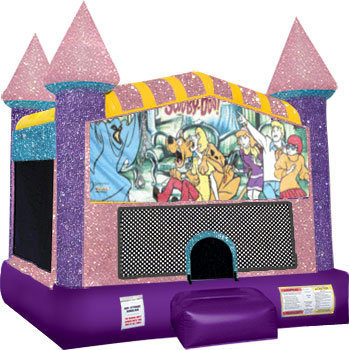 Scooby Doo Inflatable bounce house with Basketball Goal Pink