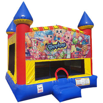 Shopkins Inflatable Bounce house with Basketball Goal