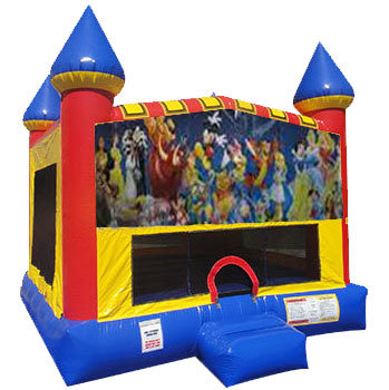 World of Disney Inflatable bounce house with Basketball Goal