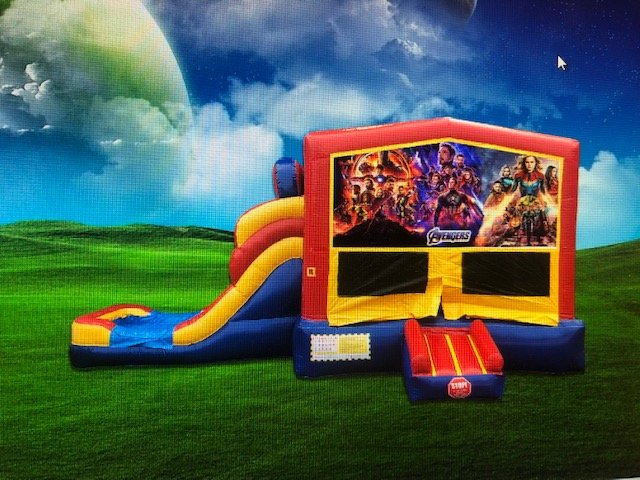 Avengers 6in1 Bounce House Wet & Dry Combo