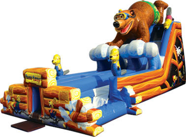 Bear Camp Double Water Slide - 18.5'