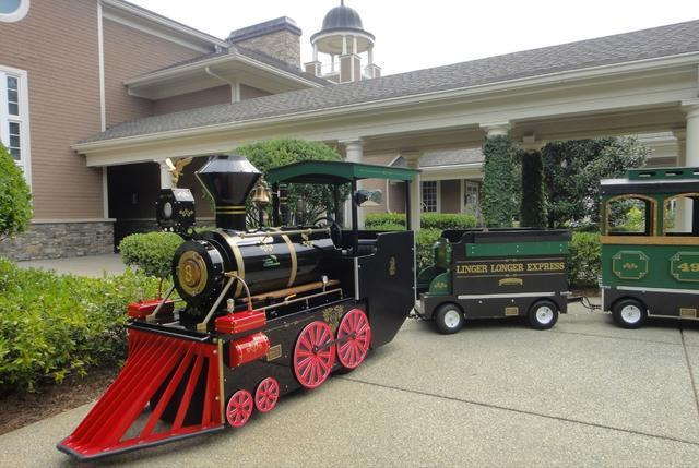 Classic Steam Trackless Train with Engineer(s)
