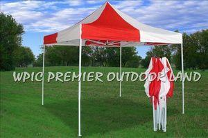 10x10 Red & White Tent