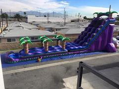 Purple Crush Double Water Slide with Slip n Slide & Pool - 27