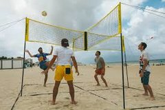 4 Square Volleyball net and ball