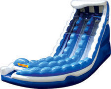 Curve Action Double Water Slide with Pools- 20