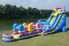 Ice Pops Slide w/slip n slide-24ft