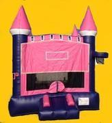 Pink & Purple Castle Module Bouncer