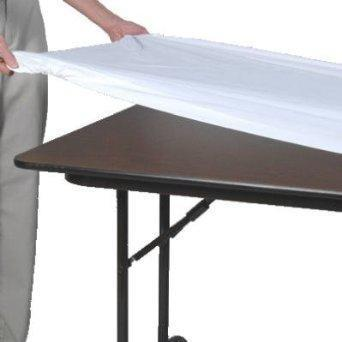 8ft x 30in KWIK Elastic Table Covers (White)