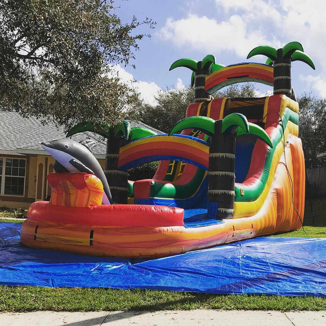 Image of: Bounce House Rentals Water Slides Clermont Fl