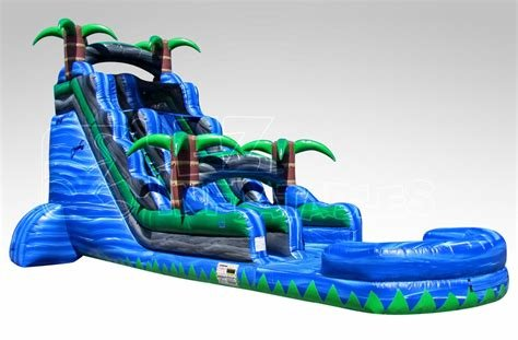 24' Screaming Blue Crush Water Slide