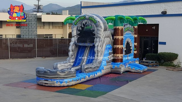 Roaring River Dual lane Water slide Combo