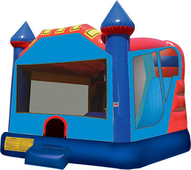 4in1 Bounce House water slide combo with hoop