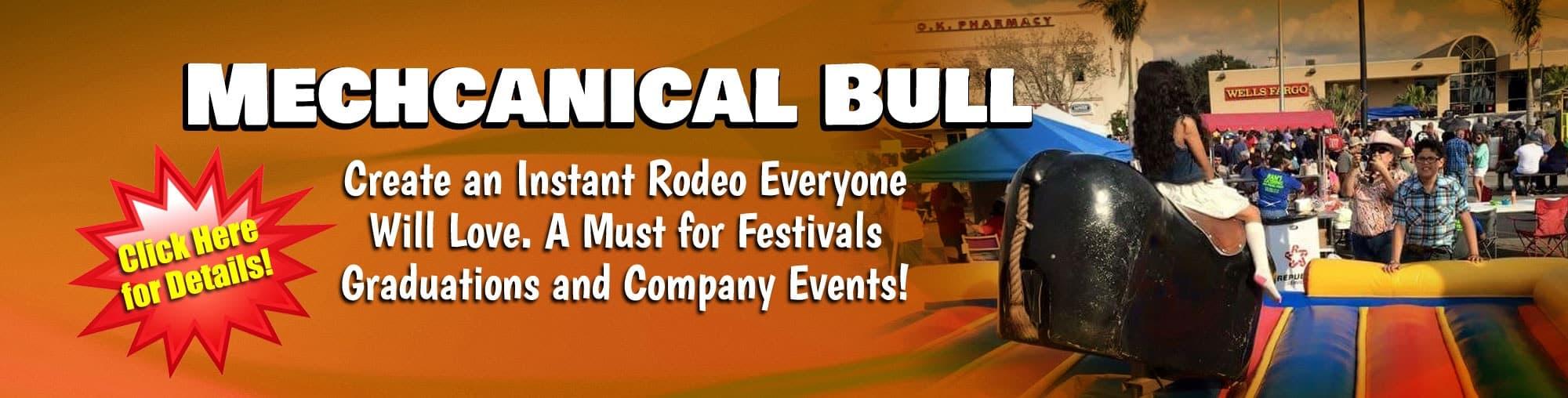 Mechcanical Bull Rental