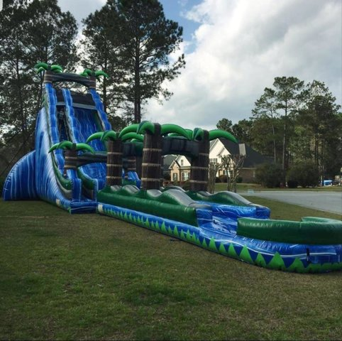 22' Double Lane Slip n slide combo