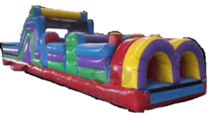 40' Multi Color Obstacle Course