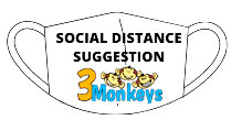 Combo Bouncer Rentals Social Distance Suggestion | 3monkeysinflatables.com