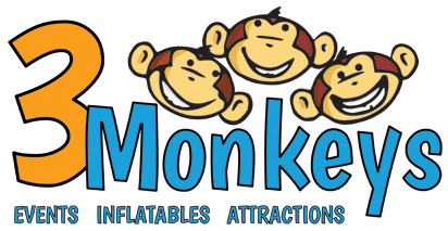3 Monkeys Inflatables LLC Logo