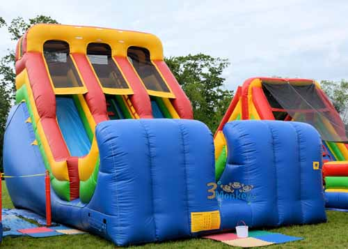18 ft Double Lane Dry Slide Rental near me