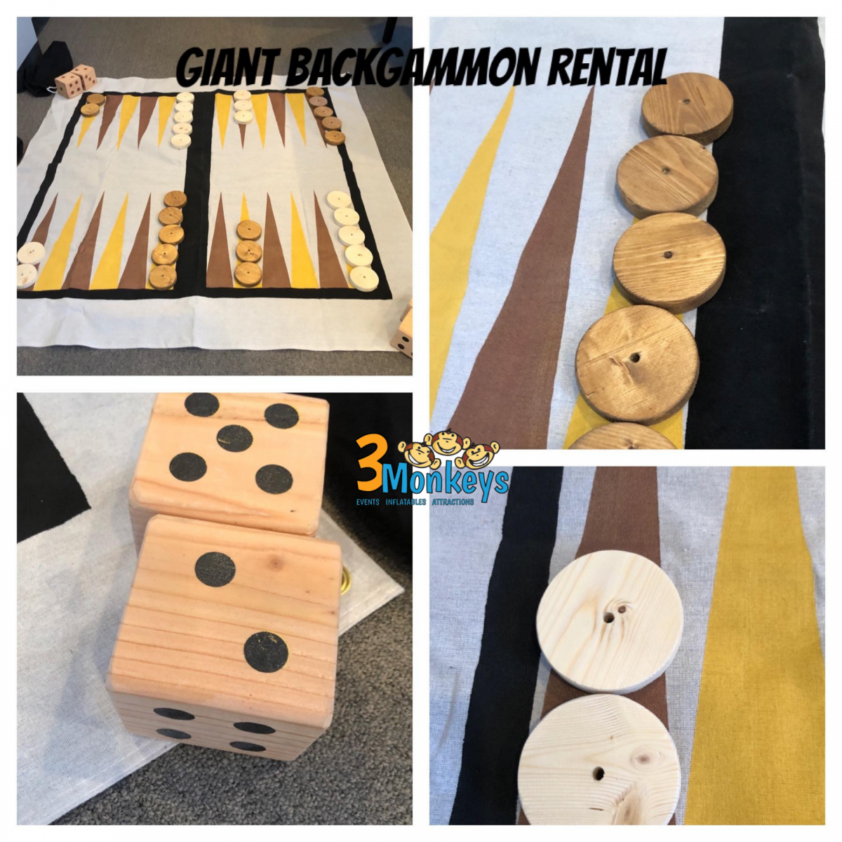 Giant Backgammon Game Rental Pennsylvania Event Rentals