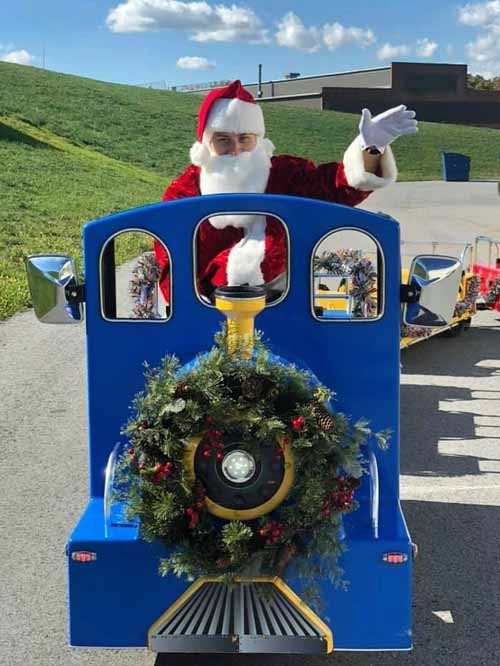 Santa Train Conductor for the Holiday Express Trackless Train
