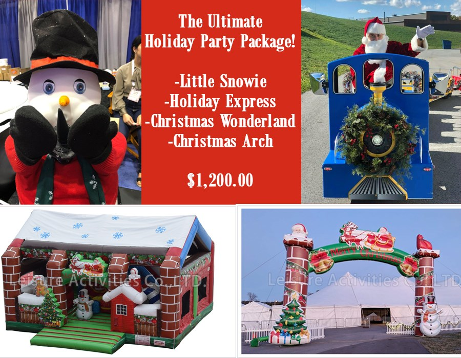 The Ultimate Holiday Party Package | 3monkeysinflatables.com