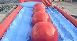 Inside view of balls on big red baller